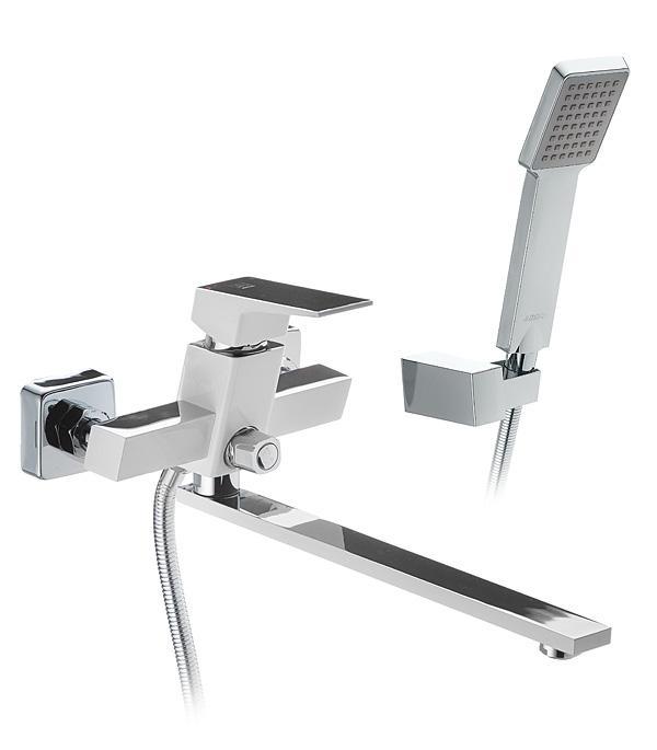 Купить смеситель с лейкой для ванны Душевой уголок Cezares Giubileo-A-2-90 стекло с узором, бронза