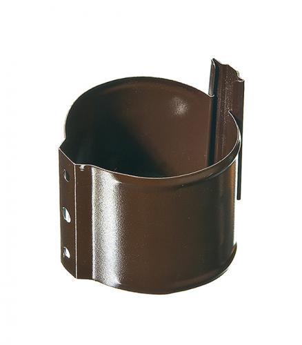 Кронштейн хомут трубы на кирпичную стену Grand Line d90 мм коричневый металлический с крепежом