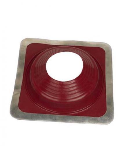 Проходник для крыш 270х270 мм d102-178 мм красный