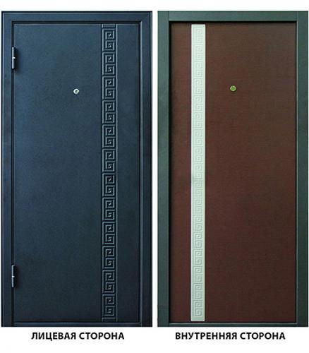 Дверь металлическая ДК Эллада 860х2050 мм левая без цилиндра и ручки