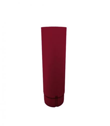 Труба водосточная металлическая d90 мм  красное вино 2,5 м Grand Line