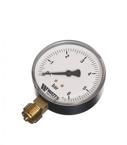 Манометр радиальный Watts 1/2 нар(ш) 6 бар d80 мм