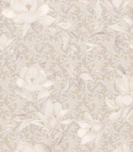 Виниловые обои на флизелиновой основе P&P Victoria Stenova Magnolia 988407 1.06х10 м