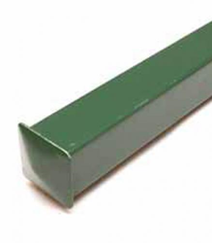 Столб заборный 40х40 мм 3 м зеленый
