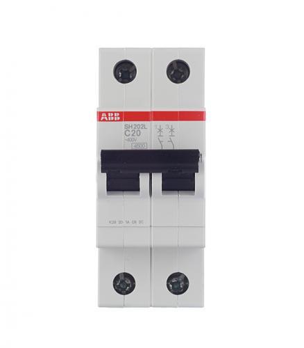 Автомат 2P, 20А, тип С, 4.5кА, ABB , SH202L