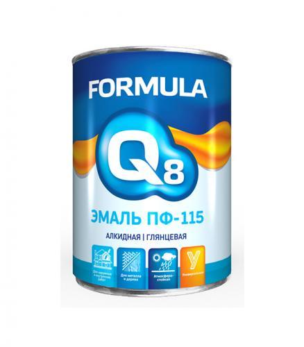 Эмаль ПФ-115 белая Formula Q8 0,9 кг