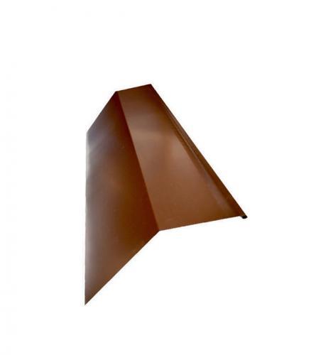 Планка карнизная для металлочерепицы коричневая RAL 8017 80х100 мм 2 м