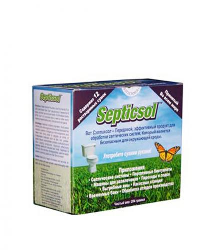 Биогранулы для септических систем и выгребных ям Septicsol (12 шт)