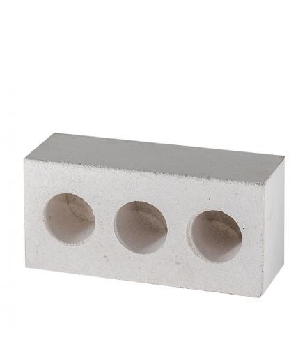 Кирпич силикатный лицевой полуторный трехпустотный белый, 250х120х88 мм.
