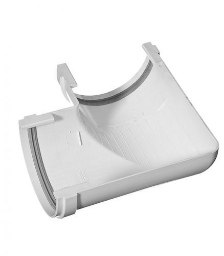 Угол желоба Vinyl-On пластиковый 90° универсальный белый уплотнитель