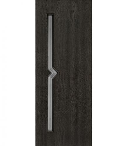 Дверное полотно с 3D покрытием Принцип Лорго Вега Седой венге 800х2000 мм со стеклом