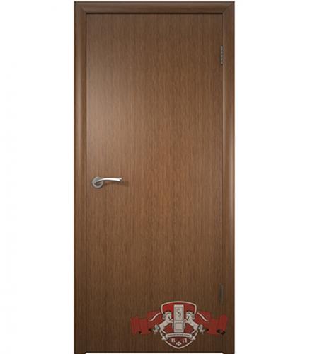 Дверное полотно Соло шпонированное  орех ПГ 900х2000 мм