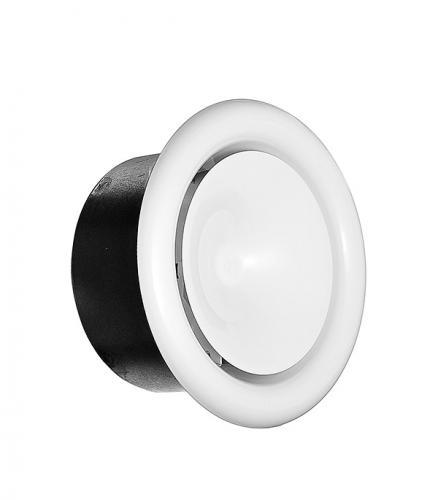 Диффузор приточный регулируемый d125 мм стальной белый