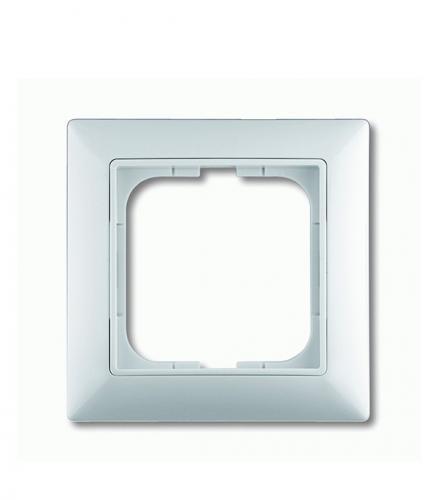 Рамка oдноместная Basic АВВ 55 альпийский белый