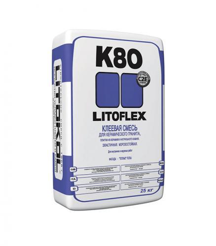 Клей для плитки и керамогранита LITOKOL LitoFlex K80 25 кг
