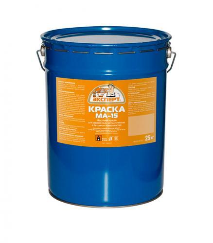Краска масляная Эксперт МА-15 сурик 25 кг